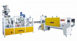 Automatic paper bag packaging line for flour